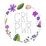Illustration för flickamaktvektor Royaltyfri Bild