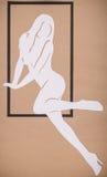 Illustration för flickor Silhouettes Royaltyfri Fotografi