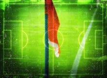 Illustration för fotboll (fotbollfält) Fotografering för Bildbyråer