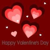 illustration för gåva för bakgrundskortdesign din blom- inbunden vektor för valentin för daghjärtaillustration s två Arkivfoto