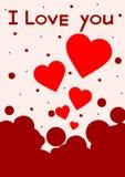 illustration för gåva för bakgrundskortdesign din blom- inbunden vektor för valentin för daghjärtaillustration s två Det kan vara Fotografering för Bildbyråer