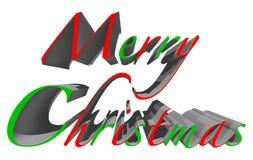 Illustration för glad jul 3D med den snabba banan Fotografering för Bildbyråer