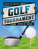 Illustration för golfturneringreklamblad Royaltyfria Bilder