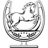 Illustration för hästsymbolvektor Fotografering för Bildbyråer