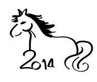 Illustration för handteckningshäst. Arkivfoton