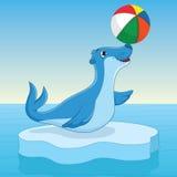 Illustration för havskalvvektor Arkivbild