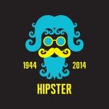 Illustration för Hipsterbegreppsvektor - Retro stildesign stock illustrationer