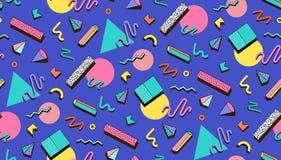 Illustration för hipstersMemphis stil Royaltyfria Bilder