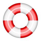 Illustration för hjälp för bad för vektor för boj för cirkel för sos för skepp för räddning för livbojhjälpräddningsaktion stock illustrationer