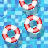 Illustration för hjälp för bad för vektor för boj för cirkel för sos för skepp för räddning för livbojhjälpräddningsaktion vektor illustrationer