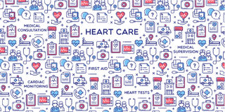 Illustration för hjärtaomsorgvektor Arkivfoton
