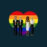 Illustration för homoäktenskapvektorlägenhet vektor illustrationer