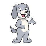 illustration för hund för bakgrundstecknad filmdesign Arkivfoto
