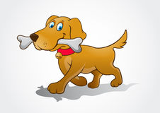 illustration för hund för bakgrundstecknad filmdesign Fotografering för Bildbyråer