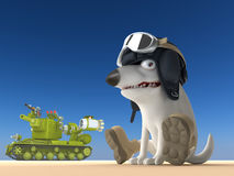 Illustration för hundtankfartyg 3d Arkivbilder