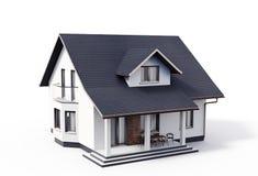 Illustration för hus 3d på vit stock illustrationer