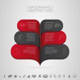 Illustration för Infographics banervektor med symboler Arkivfoto