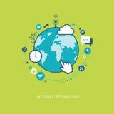 Illustration för internetteknologilägenhet Royaltyfria Foton