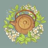 Illustration för jasmintevektor stock illustrationer
