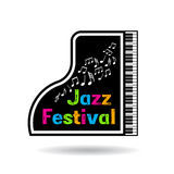 Illustration för jazzmusikfestival Arkivbilder