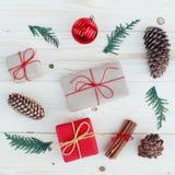 Illustration för julgåvaaskar Fotografering för Bildbyråer