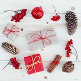 Illustration för julgåvaaskar Arkivfoton