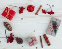 Illustration för julgåvaaskar Arkivbilder