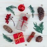 Illustration för julgåvaaskar Arkivfoto