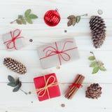 Illustration för julgåvaaskar Stock Illustrationer
