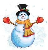 Illustration för julsnögubbediagram Fotografering för Bildbyråer
