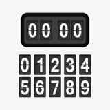 Illustration för klockaräknare Arkivfoton