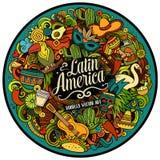 Illustration för klotter för Latinamerikavektor hand dragen