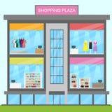 Illustration för kommers 3d för detaljhandel för visning för shoppingPlaza stock illustrationer