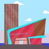 Illustration för kommers 3d för köpcentrumbetydelsedetaljhandel vektor illustrationer