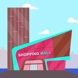 Illustration för kommers 3d för shoppinggalleriabetydelsedetaljhandel vektor illustrationer
