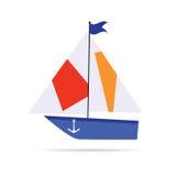 Illustration för konst för fartygtecknad filmsymbol Royaltyfria Bilder