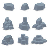 Illustration för konst för vektor för stenuppsättningobjekt Royaltyfri Foto