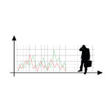 Illustration för kontur för vektor för affärsframgång Arkivfoto