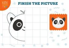 Illustration för kopieringsbildvektor Färdig och färgläggninglek för förskole- ungar stock illustrationer