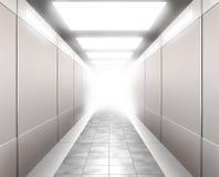 illustration för korridor 3d stock illustrationer