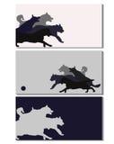 Illustration för kort för hundutbildningsaffär royaltyfri illustrationer