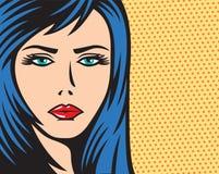 Illustration för kvinna för popkonst Arkivfoto