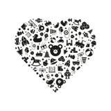 Illustration för leksakhjärtavektor stock illustrationer
