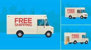 Illustration för leveranslastbilar Arkivfoto