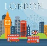 Illustration för London Cityscapevektor Arkivfoto