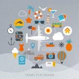 Illustration för lopplägenhetdesign Vektor Illustrationer