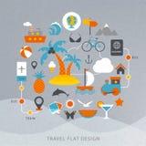 Illustration för lopplägenhetdesign Royaltyfri Illustrationer