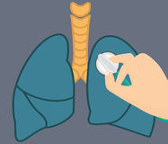 Illustration för lungaauskultationvektor Fotografering för Bildbyråer