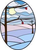 Illustration för målat glassfönster Vektor Illustrationer