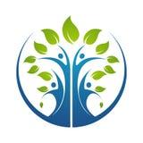 illustration för mall för design för logo för stamträdsymbolsymbol vektor illustrationer